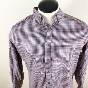 P28 Untuckit Plaid Button Front Shirt